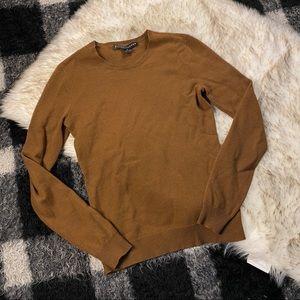 Ralph Lauren brown cashmere knit sweater md